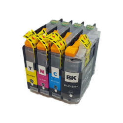 Compatible Brother LC123 Set Of 4 Inkjet Cartridges