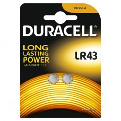 Duracell LR43 1.5v Alkaline (2 pack)