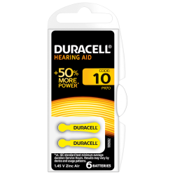 DURACELL ACTIVAIR SIZE 10 HEARING AID BATTERY PACK OF 6...