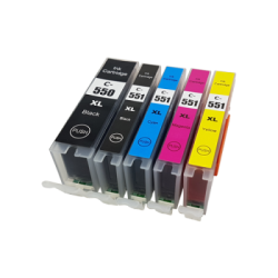 Canon Compatible PGI550/CLI-551XL Inkjet Cartridge set...