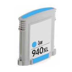Compatible Cyan HP 940XL Inkjet Cartridge (C4907AE) -...