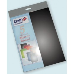 Black Mirror Board pack of 5 A4 sheets from CRAFTUK -...