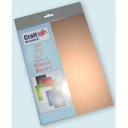 Copper Mirror Board pack of 5 A4 sheets from CRAFTUK -...