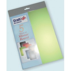 Green Mirror Board pack of 5 A4 sheets from CRAFTUK -...