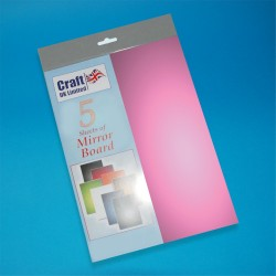 Lilac Mirror Board pack of 5 A4 sheets from CRAFTUK -...