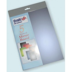Pale Blue Mirror Board pack of 5 A4 sheets from CRAFTUK -...