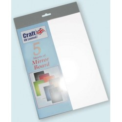 White Mirror Board pack of 5 A4 sheets from CRAFTUK -...