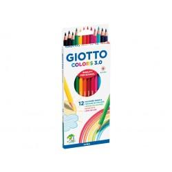 GIOTTO COLORS 3.0 12 COLOURING PENCILS