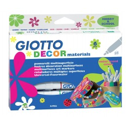 GIOTTO DECOR MATERIAL 6 PAINT MARKERS