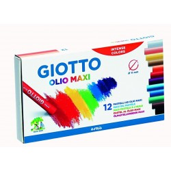 GIOTTO OLIO MAXI OIL PASTELS 12 BOX