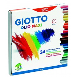 GIOTTO OLIO MAXI OIL PASTELS 24 BOX