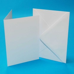 "5"" x 7""Card and Envelope PREMIUM pack of 40 from CraftUK..."