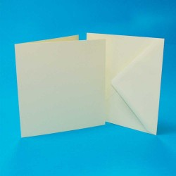 "4"" x 4"" Card and Envelope pack of 50 from CraftUK White..."