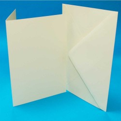 C5 Card and Envelope pack of 50 from CraftUK White or...