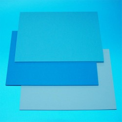 CraftUK 3 Blue shades 160gsm Craft Board pack of 60 A5...
