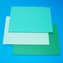 CraftUK 3 Green shades 160gsm Craft Board pack of 60 A5...