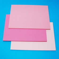 CraftUK 3 Pink shades 160gsm Craft Board pack of 60 A5...