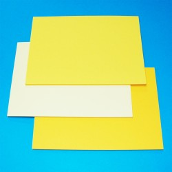 CraftUK 3 Yellow shades 160gsm Craft Board pack of 60 A5...