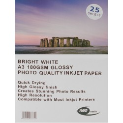 Neo 180gsm Inkjet Gloss Photo paper - 25 Sheets