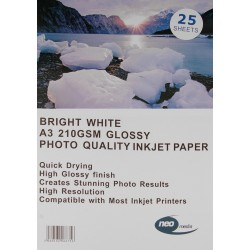 Neo 210gsm Inkjet Gloss Photo paper - 25 Sheets