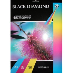 Black Diamond A4 180gsm Inkjet Gloss Photo paper - 20 Sheets