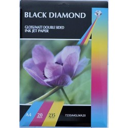 Black Diamond Gloss/Matte Double Sided A4 235gsm Inkjet...