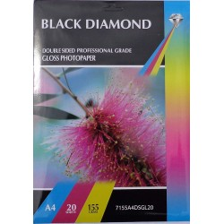 Black Diamond Double Sided A4 155gsm Inkjet Gloss Photo...