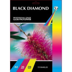 Black Diamond A4 210gsm Inkjet Gloss Photo paper - 20 Sheets