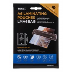 TEXET A6 Laminating pouches (pack of 25)