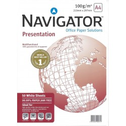 Navigator Presentation Paper 100gsm A4 White 50 sheets -...