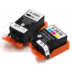 Compatible Epson 266/267 (T2661/T2670) Black and Colour...