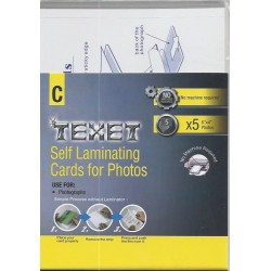 "TEXET 6""x4"" Self Laminating pouches for Photos (pack of 5)"