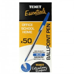Texet Blue Ballpoint Pen (Pack of 50)