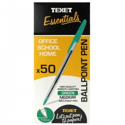 Texet Green Ballpoint Pen (Pack of 50)