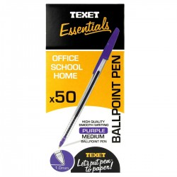 Texet Purple Ballpoint Pen (Pack of 50)