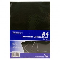 Stephens A4 Black Typewriter Carbon paper 10 sheets