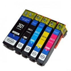 Complete Set Of 5 Compatible Epson 26XL Ink Cartridges...