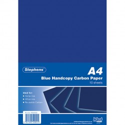 Stephens A4 Blue Handcopy Carbon paper 10 sheets