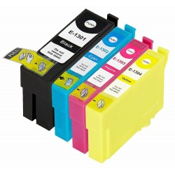 Complete Set Of 4 Compatible Epson T1301 - T1304 Ink...