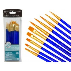 Royal & Langnickel Gold Taklon 10 piece artist brush set