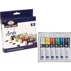 Royal & Langnickel Acrylic Artist 6 X 21ml Paint