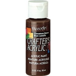 DecoArt Crafters Cinnamon Brown acrylic paint 59ml