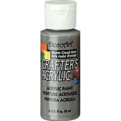 DecoArt Crafters Storm Cloud Grey acrylic paint 59ml