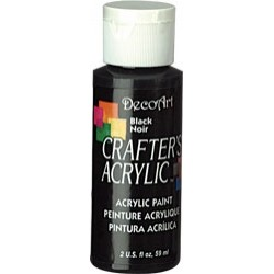DecoArt Crafters Black acrylic paint 59ml