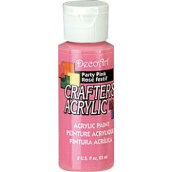 DecoArt Crafters Party Pink acrylic paint 59ml