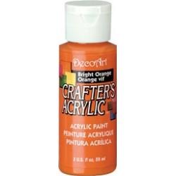 DecoArt Crafters Bright Orange acrylic paint 59ml
