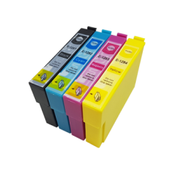 Complete Set Of 4 Compatible Epson T1281 -  T1284 Ink...