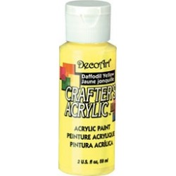 DecoArt Crafters Daffodil Yellow acrylic paint 59ml
