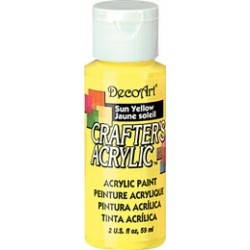 DecoArt Crafters Sun Yellow acrylic paint 59ml