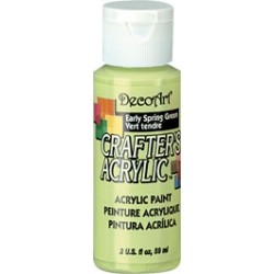 DecoArt Crafters Early Spring Green acrylic paint 59ml